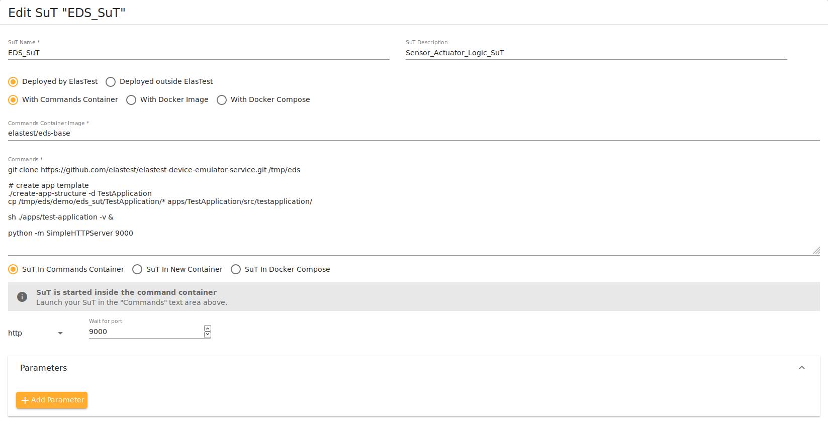 Elastest Documentation - Device Emulator Service (EDS)